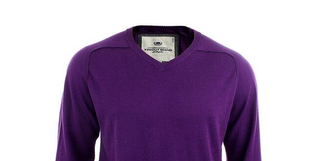 Pánsky fialový sveter Timeout