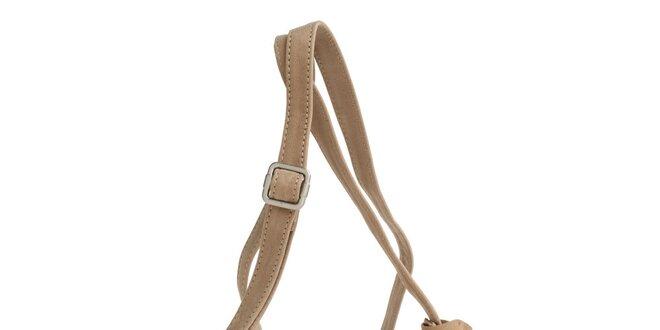 Dámska béžová kabelka Fuchsia