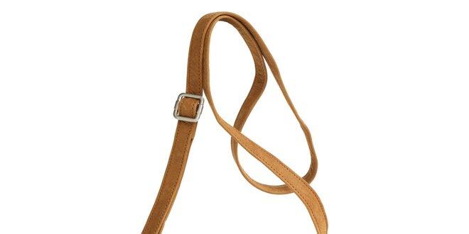 Dámska koňakovo hnedá kabelka Fuchsia