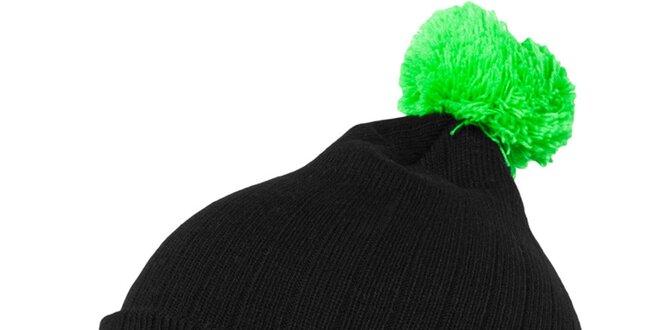67c094798 Pánska čierna čiapka s neonovo zeleným brmbolcom Urban Classics ...