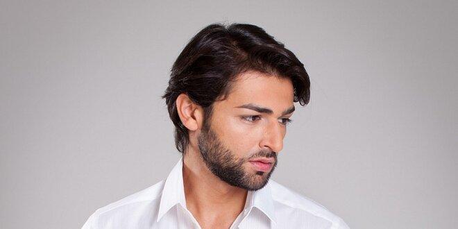 Pánska biela košela Dolce & Gabbana s jemným prúžkom
