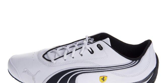 Pánske biele tenisky Puma Ferrari s čiernymi detailami  867c9fb5b80