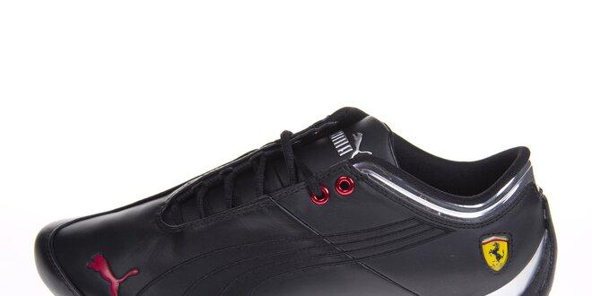Pánske čierne tenisky Puma Ferrari s červenými detailami  7f4068a38bc