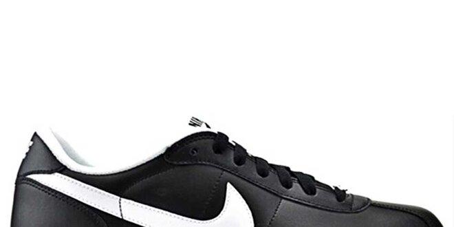 eb3dd67d18 Pánske čierne kožené tenisky Nike