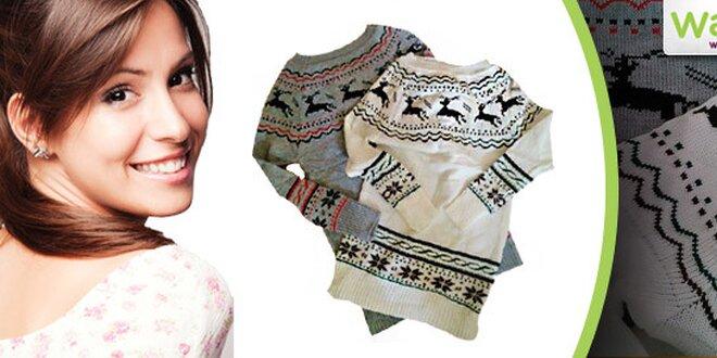 63f524f8e962 Dámsky zimný sveter s nórskym vzorom