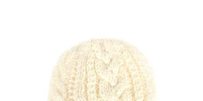 Dámska krémová pletená čiapka Nolita