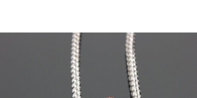 a09c677bf322 Dámsky náhrdelník s červeným korálkom Swarovski