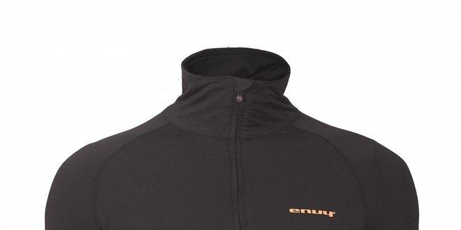 Pánske čierne termo tričko Envy so stojačikom