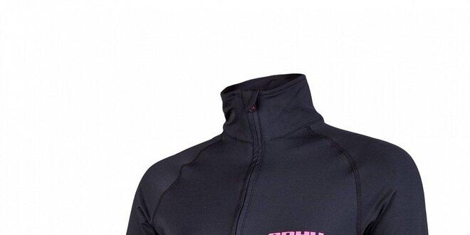 Dámske čierne termo tričko Envy so stojačikom