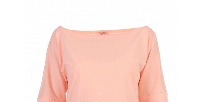 bca36fa4ea04 Dámske broskyňové tričko Yuliya Babich s lodičkovým výstrihom ...
