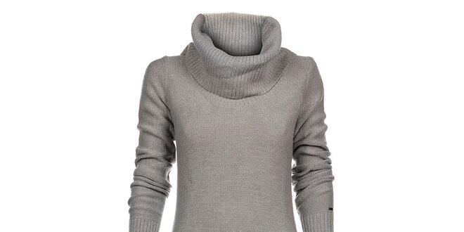 Dámske svetlo šedé pletené šaty Tommy Hilfiger  a3b6087cac