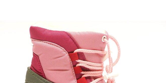 Detské ružovo-šedé snehule Numero Uno