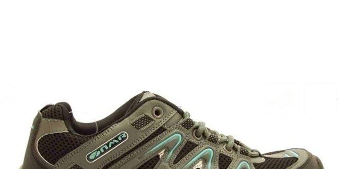 Dámske šedo-modré trekové topánky Numero Uno