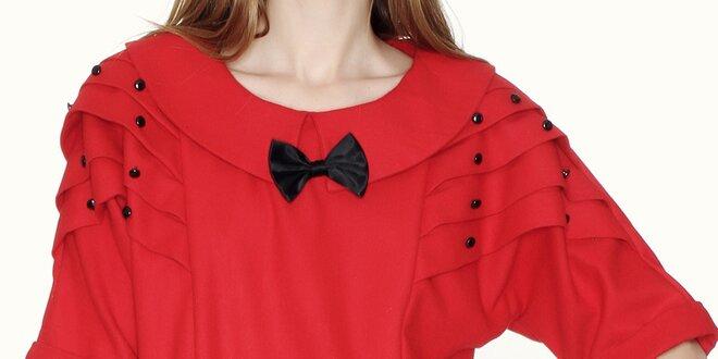 674a728b3288 Dámska červená blúzka s golierom a mašličkou Pepa Loves