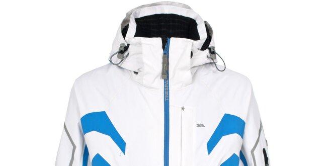f76cfdde5 Pánska biela lyžiarska bunda s farebnými detailmi Trespass | Zlavomat.sk