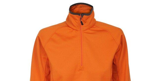 Dámska oranžová fleecová mikina Trimm Prada