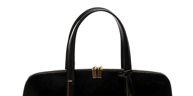 Dámska kožená kabelka v čiernom prevedení Luisa Vannini