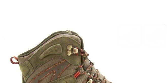 1541edb616 Pánske khaki trekové topánky Numero Uno