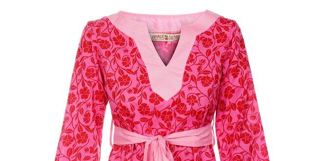 8313b6eadf3f Dámske krátké šaty od Savage Culture s kvetinovým vzorom a pásikom ...