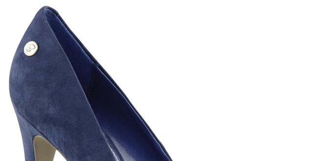 1e206f4a78e4 Dámske tmavo modré semišové lodičky na ihlovom opätku Blink ...