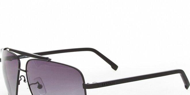Čierne slnečné okuliare Lacoste s dymovými sklami  99e4344d814