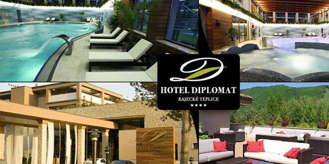 168 eur za wellness pobyt pre DVE OSOBY v Hoteli DIPLOMAT**** Rajecké Teplice. Luxusný oddych v jednom z najkrajších miest Slovenska !