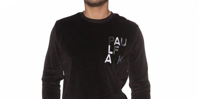 Pánska čierna plyšová mikina Paul Frank  1e56ee4a684