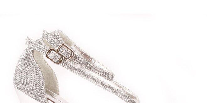 49936dc04fe4 Dámske strieborné sandálky Spot On