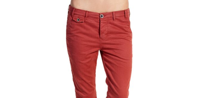 Dámske oranžovo červené nohavice Galvanni