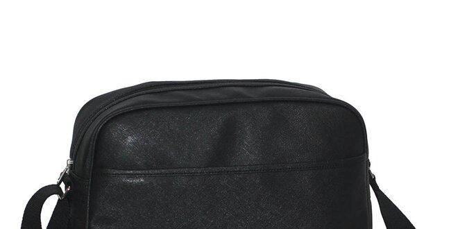 Čierna športová taška cez rameno Dunlop