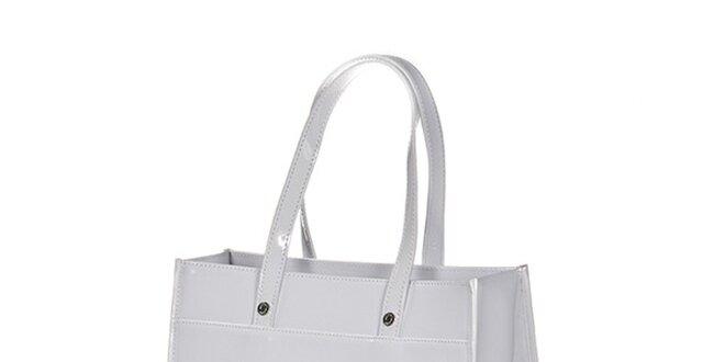 Dámska biela lesklá taška Versace Jeans  f7820585ad9