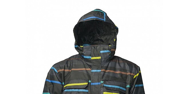 Pánska čierna zimná bunda s membránou Fundango