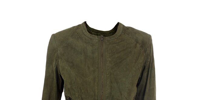 Dámska semišová khaki bunda Company&Co