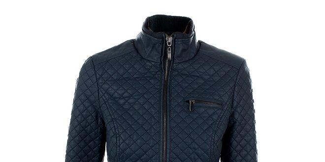 Dámska tmavo modrá koženková bunda Company&Co