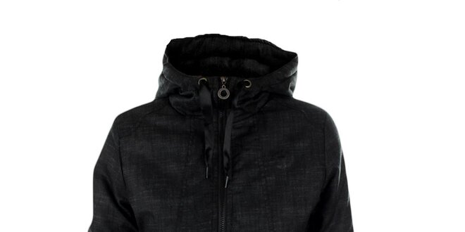 Dámska čiernošedá zimná bunda Exe Jeans