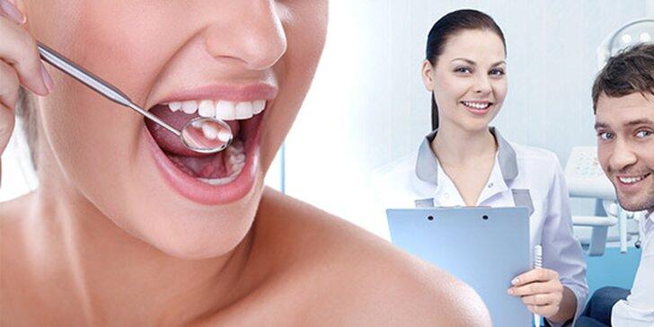 Profesionálna dentálna hygiena a bielenie zubov lampou Zoom!