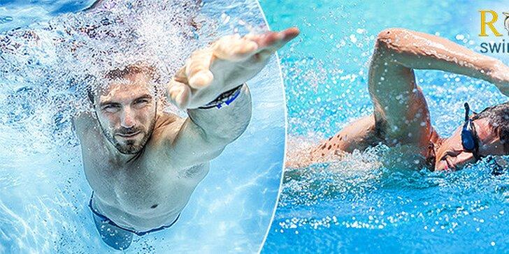 Lekcia plávania s trénerom v bazéne podľa výberu