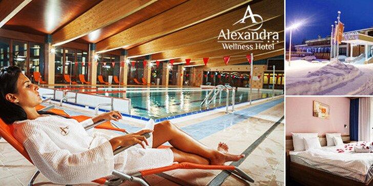 Exkluzívny wellness alebo rodinná dovolenka v hoteli Alexandra***, až 2 deti do 15 rokov zadarmo