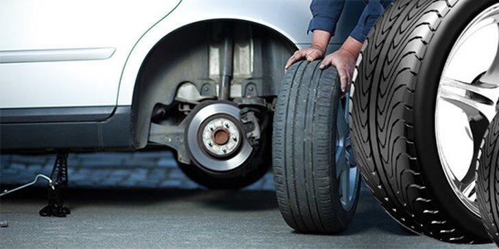 Kompletné prezutie kolies s vyvážením a vizuálnou kontrolou vozidla