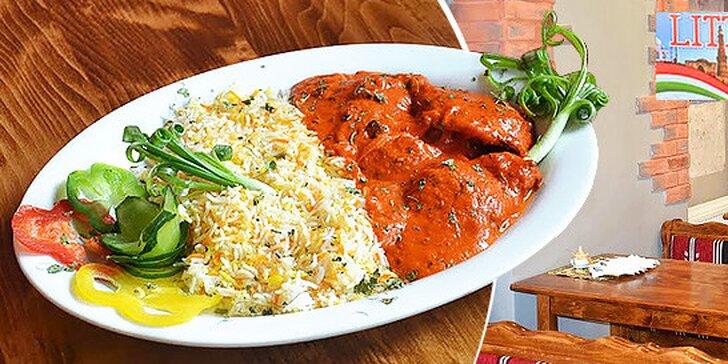 Indická kuracia tikka masala s bashmatti ryžou