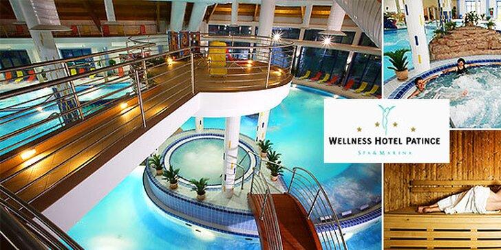 Luxusný Wellness Hotel Patince**** s NEOBMEDZENÝM vstupom do bazénového a saunového sveta