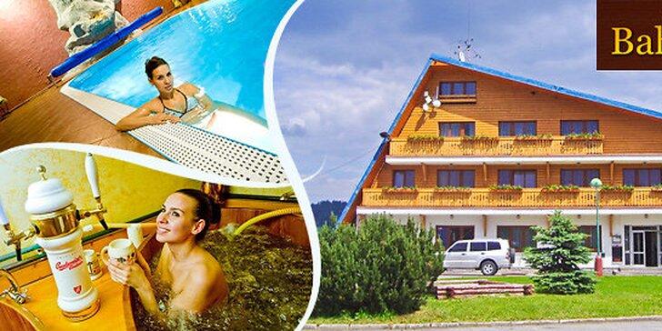 3 dni relaxu v Beskydách - wellness aj pivné kúpele