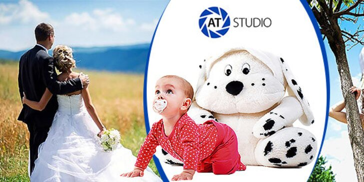 Profesionálne fotografovanie v ateliéri alebo exteriérové svadobné fotografovanie
