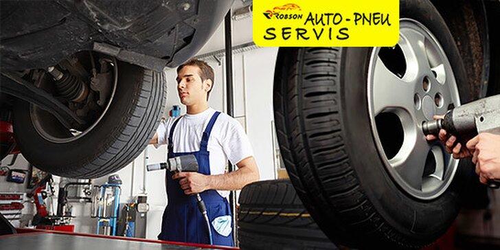 Prezutie pneumatík s vyvažovacím materiálom v cene