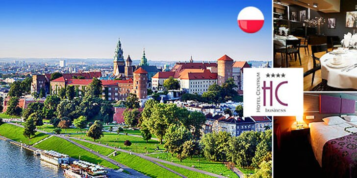 Pobyt pre 2 osoby v Hoteli Centrum**** v Krakove