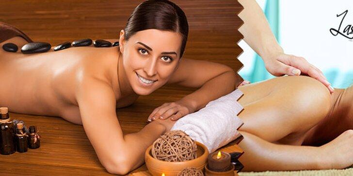 Hodinová klasická masáž alebo masáž lávovými kameňmi