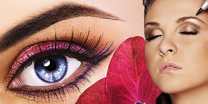Permanentný Make – up obočia čiarkovanou metódou, očné linky alebo pery