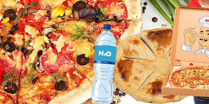 Dvojnásobný úsmev pre pizzu na donášku - 2 pizze + pizza chlebík alebo 2 kusy bezlepkovej pizze