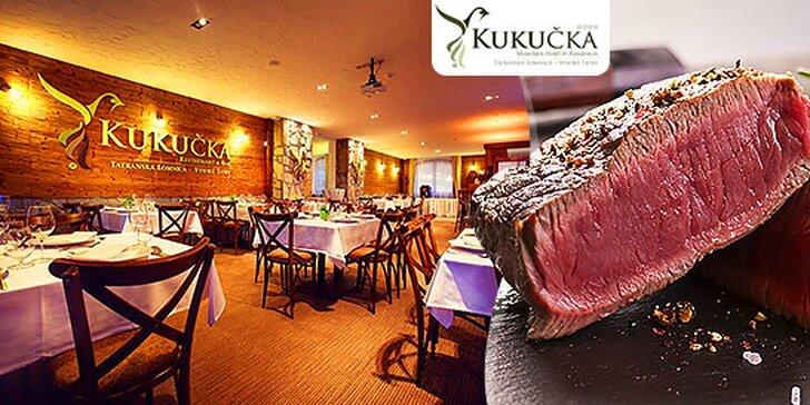 Pfeffer steak s prílohou v hoteli Kukučka**** vo Vysokých Tatrách