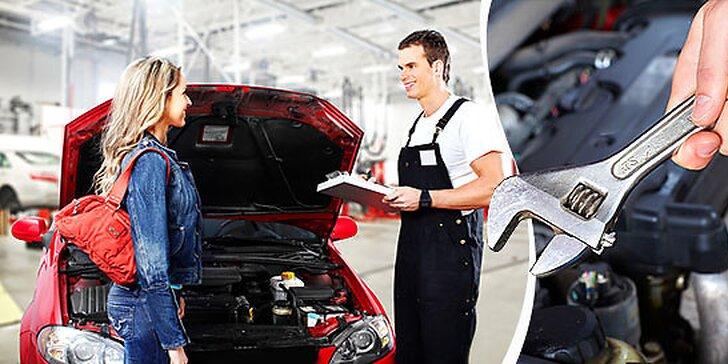 Výmena oleja a filtrov, dezinfekcia klimatizácie, diagnostika motora a kontrola podvozku